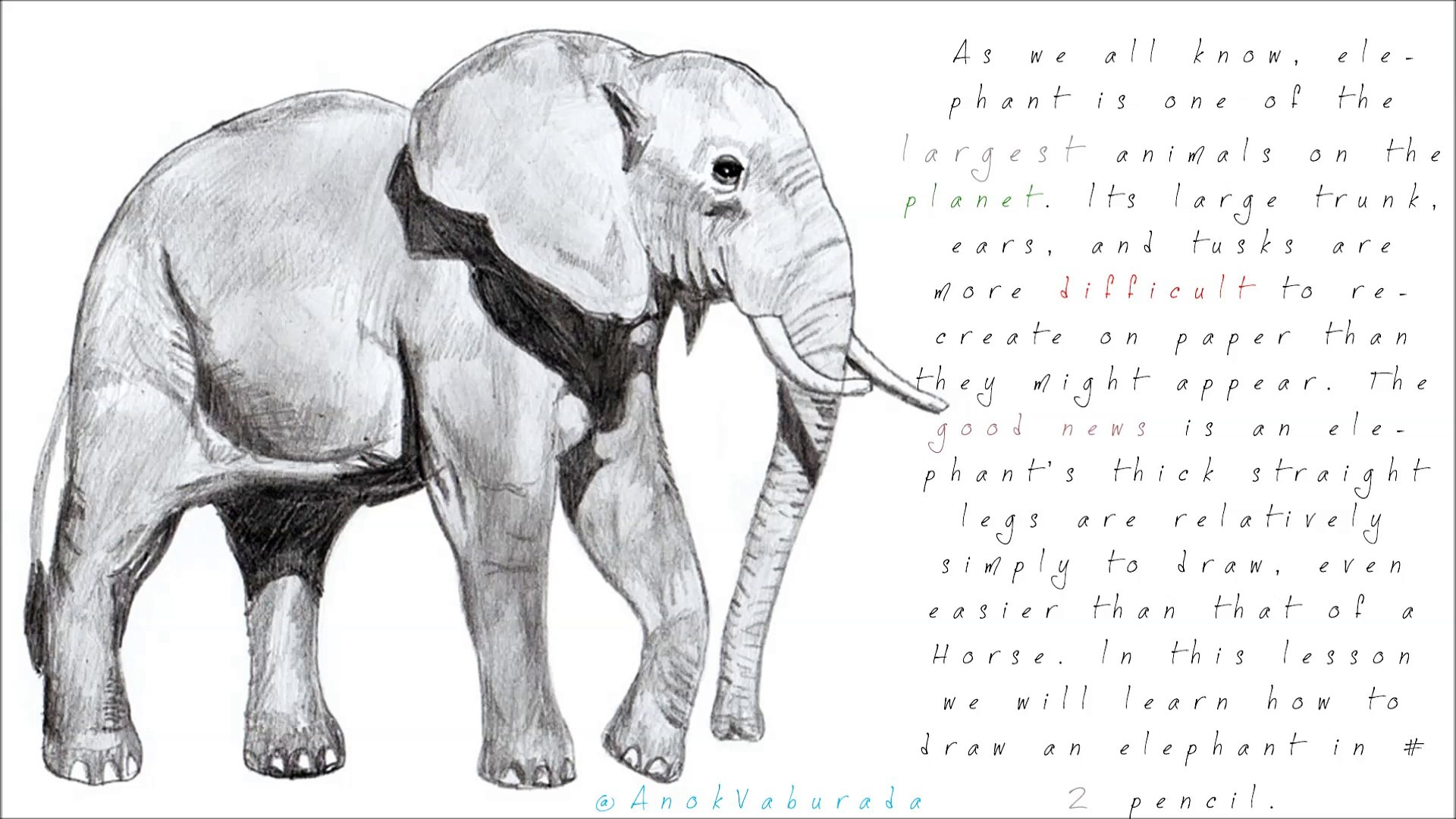 How To Draw An Elephant Tutorial Difficult Normal Dailymotion Video
