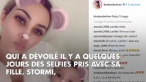 Kim Kardashian poste une photo de son fils Saint et de sa fille Chicago