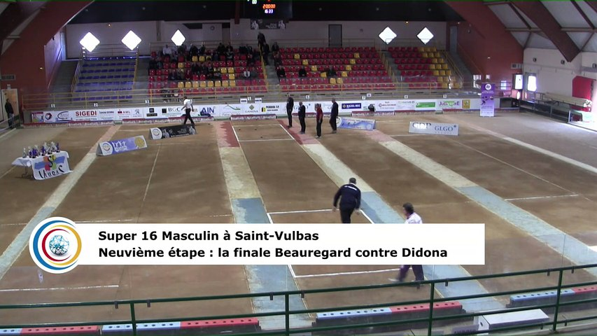 La finale, neuvième étape du Super 16 masculin,  Saint-Vulbas 2018