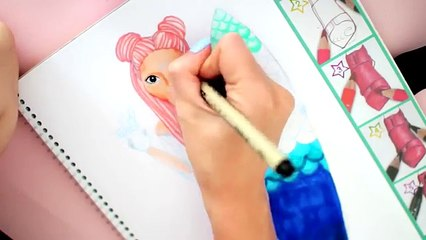 Topmodel malen   Summergirl   How to draw girl with surfboard    Foxy Draw