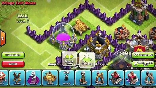 Clash of clans - TH7 trophy/war base (Mantis) Effective traps!