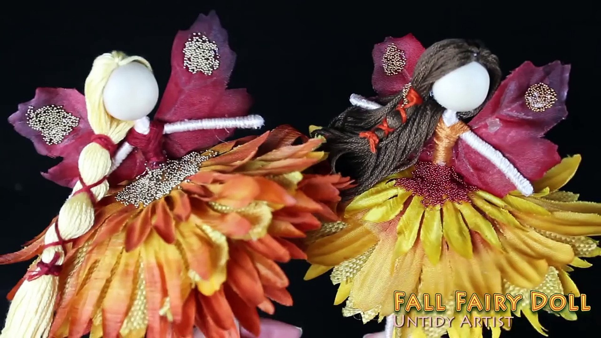DIY Fall Fairy Doll with Fairy Wings