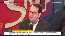 """SNCF : """"Je comprends les grévistes mais depuis 30 ans il y a eu huit grandes grèves à la SNCF qui à chaque fois ont réussi à faire à faire échouer ou édulcorer des réformes"""", Gilles Le Gendre, député LREM de la 2e circonscription de Paris"""