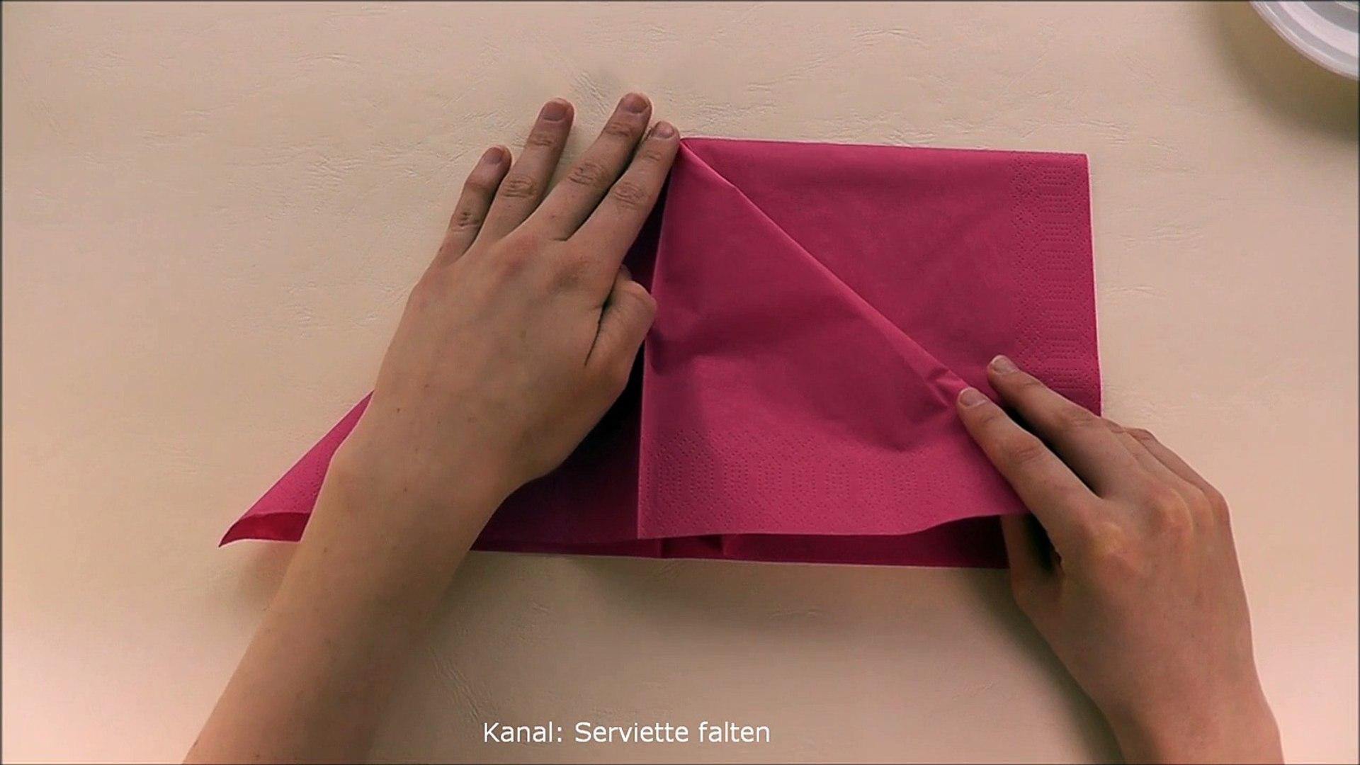 Häufig Servietten falten: Schmetterling - einfache Tischdeko selber IM86