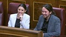El líder de Podemos Pablo Iglesias y su pareja Irene Montero serán padres de mellizos