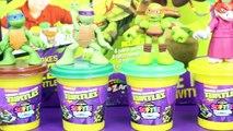 TMNT Play Doh and Ninja Turtles Softee Dough with Leonardo Toy DIY Review Clones