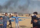 Tear Gas Fired Against Palestinian Protesters Camp in East Gaza