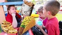 McDonalds Drive Thru vs Taco Bell With Power Wheels Cars Driving