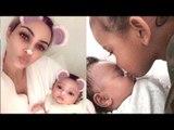 Kim Kardashian Posts Adorable Photo Of Saint West Kissing Chicago West's Nose | Hollywood Buzz