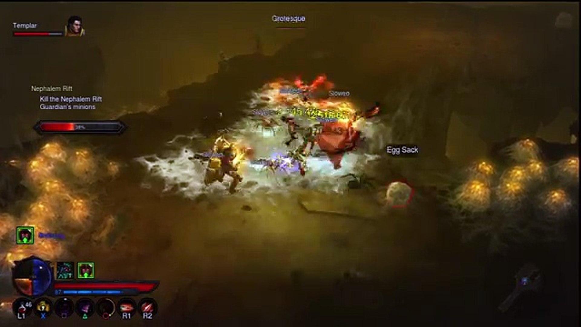 PS3/Xbox 360 Diablo 3 RoS Demon Hunter Build + Rift Gameplay (Reaper of  Souls Ultimate Evil Edition)