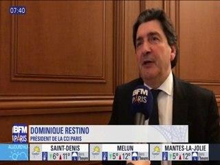 BFM Paris - Interview de Dominique Restino, président de la CCI Paris - Evolution du commerce à Paris   2018-04-01