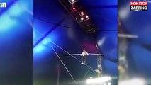 Russie : Un funambule chute en plein spectacle de cirque (vidéo)