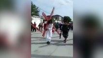 Un tiroteo en pleno Viacrucis: Cristo tuvo que dejar la cruz