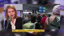 """Grève SNCF : """"Il y a un groupe de leaders qui s'opposent à toute négociation et qui organisent et structurent la grève. Quel dommage d'entrer en grève alors même que la négociation n'est pas finie"""", regrette Marie Lebec, députée LREM des Yvelines #TEP"""
