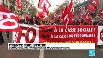 Rail strikes sweep France