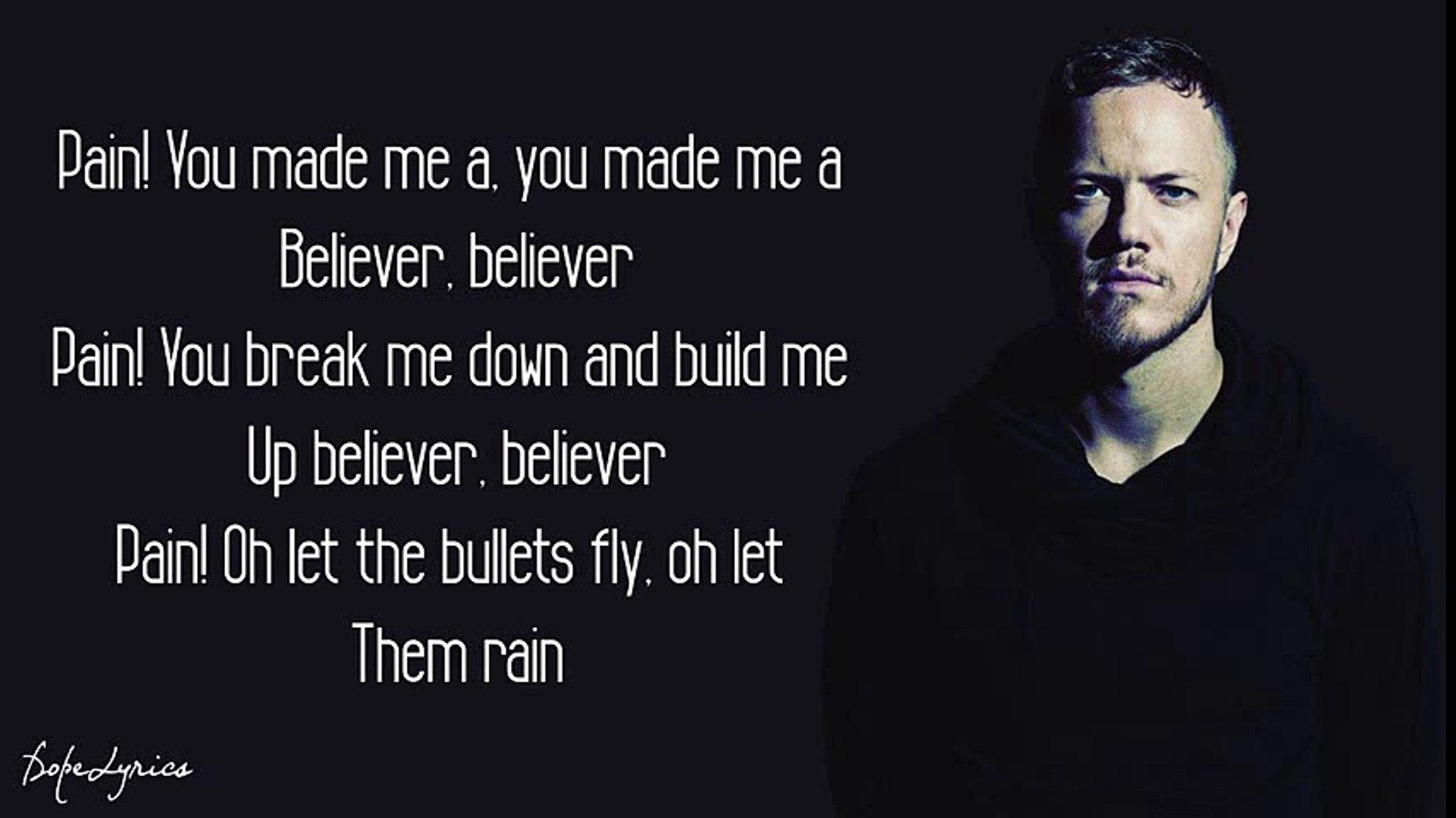 Believer - Imagine Dragons (Lyrics)