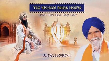 Giani Daya Singh Dilber - Teg Vichon Paida Hoeya Jukebox