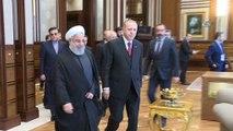 Cumhurbaşkanı Erdoğan, İran Cumhurbaşkanı Ruhani ile baş başa görüştü