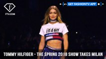 Gigi Hadid and Tommy Hilfiger Have A Need For Milan Speed Spring 2018 | FashionTV | FTV
