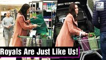 Pregnant Kate Middleton The Duchess of Cambridge Was Seen Grocery Shopping