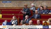 """SNCF: """"A mi-chemin de la concertation, [...] qui peut comprendre que certains syndicats s'engagent dans un conflit pénalisant?"""", dit Elisabeth Borne"""