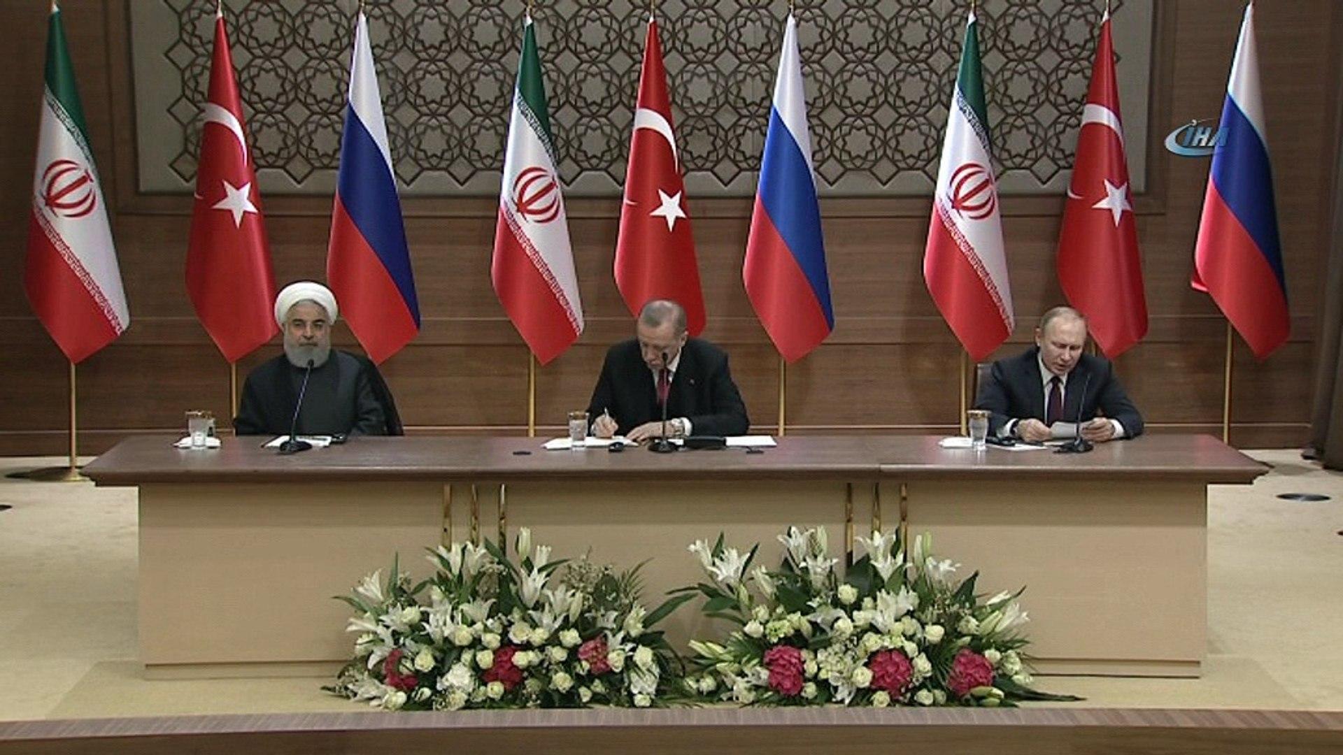 Rusya Devlet Başkanı Vladimir Putin: 'Rusya, İran ve Türkiye Suriye'nin toprak bütünlüğünd