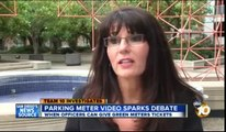 Parking Officer ticketing a GREEN meter caught on ABC in San Diego.. CORRUPT!