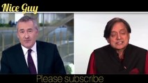 Shashi tharoor slams british anchor for lack of appreciation for Indian contribution.