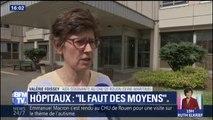 """""""On en a marre des restrictions de budget."""" Elle a interpellé le président à Rouen, elle s'explique"""