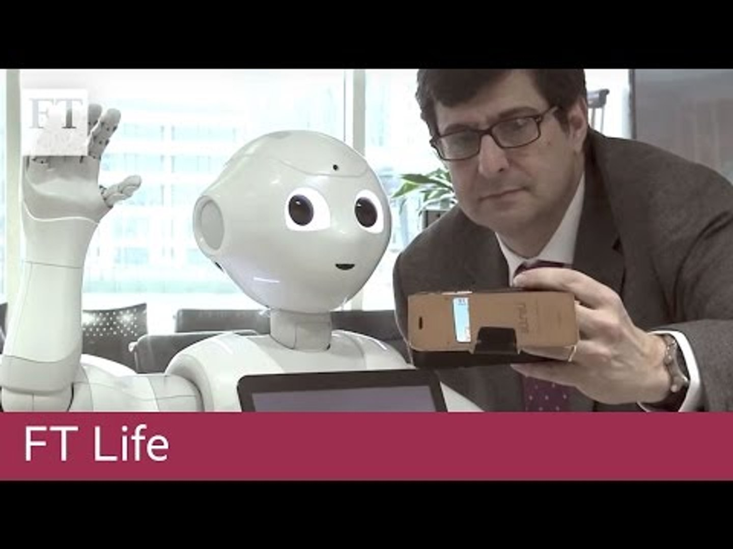 Pepper the 'emotional' robot visits the FT   FT Life