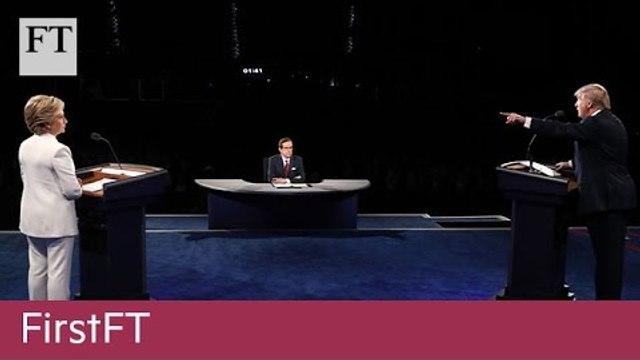 Trump-Clinton debate, US health fund | FirstFT