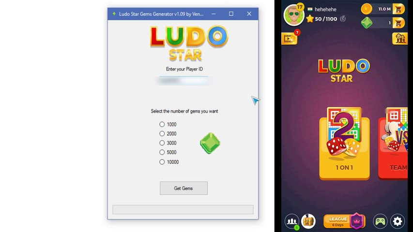 How to get unlimited Gems in Ludo Star using this Hacking tool [Proof]