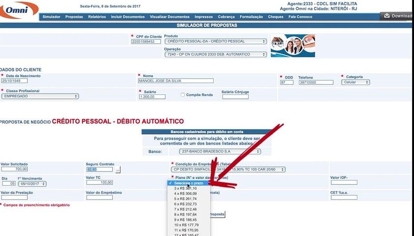 Video Tutorial - Empréstimo Boleto ou Carnê OMNI / Whats: (88)9.9600-0000