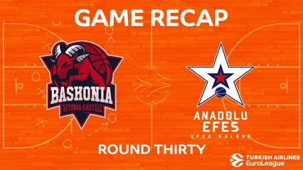 EuroLeague 2017-18 Highlights Regular Season Round 30 video: Baskonia 79-81 Efes