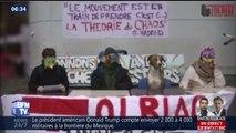 """Blocage des universités: cette drôle d'image des étudiants de Tolbiac lors d'une """"conférence de presse"""""""