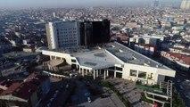 Taksim Eğitim ve Araştırma Hastanesi yangın sonrası havadan görüntülendi