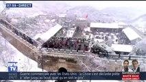 Les très belles images de la grande muraille de Chine sous la neige ❄