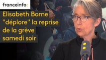 """Elisabeth Borne """"déplore"""" la reprise de la grève samedi soir. """"C'est plus utile, pour défendre les cheminots, de passer des journées à discuter que d'appeler à une grève pénalisante pour les usagers"""". #8h30politique"""