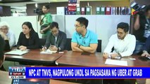 NPC at TNVS, nagpulong ukol sa pagsasama ng Uber at Grab