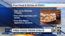 Free chips and salsa from Chili's