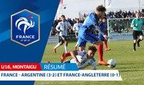 U16, Tournoi de Montaigu : France-Argentine (3-2) et France-Angleterre (0-1) I FFF 2018