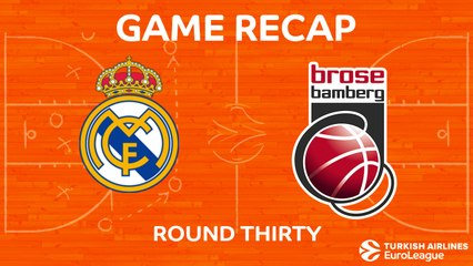 EuroLeague 2017-18 Highlights Regular Season Round 30 video: Madrid 106-86 Bamberg