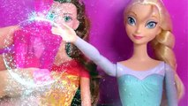 Barbie Color Change Hair & Nails Glitz Glam Queen Elsa Disney Frozen Ice Water Changer Doll Video