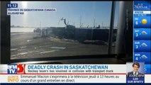 Canada: les images de l'accident de bus qui a fait 14 morts