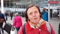 Stop Dublin. Environ 80 manifestants à l'aéroport Brest-Bretagne