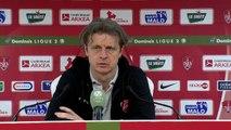 Réaction de Jean-Marc Furlan et Réginald Ray après Stade Brestois 29 - Valenciennes FC