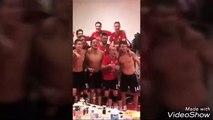 Bayern  Munich fete le titre de champion Bundesliga dans le vestiaire fc bayern munich