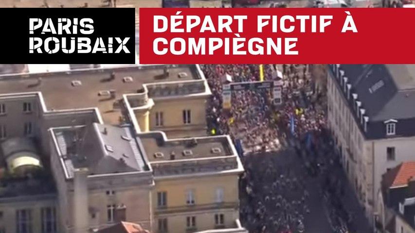 Départ ficitf à Compiègne - Paris-Roubaix 2018