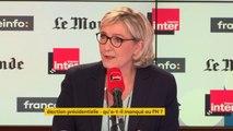"""Marine Le Pen : """"Macron s'est mis dans notre roue, en endossant le clivage mondialistes - nationaux"""""""