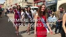 Première sortie pour Miss Vosges 2018, Amandine Lan, à la braderie de Remiremont